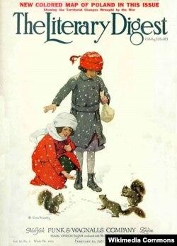 Обложка номера Literary Digest от 19 февраля 1921 года