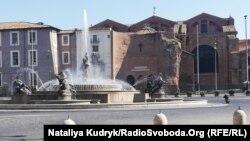 Площа Республіки і фонтан Наяд. Рим, Італія. 11 квітня 2020 року