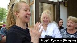 Ганна Шарэйка пасьля вызваленьня