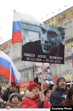 Герман Князев на акции памяти Немцова