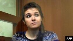 Варвара Караулова (Александра Иванова) в суде.