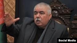 عبدالرشید دوستم معاون اول پیشین رئیس جمهور غنی و حامی رقیب سیاسی او عبدالله عبدالله در انتخابات ریاست جمهوری