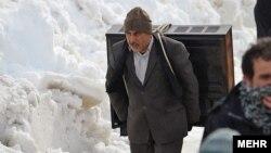 برف و سرما در تنکابن٬ استان مازندران- ۱۴ بهمنماه ۱۳۹۲