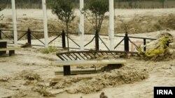 تصویری از سیل در استان مازندران