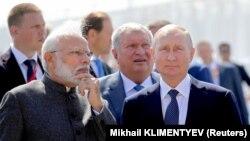 Ռուսաստանի նախագահը և Հնդկաստանի վարչապետը Վլադիվոստոկում, 4-ը սեպտեմբերի, 2019թ․
