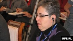 Марта Брилл Олкотт – Халықаралық бейбітшілік жөніндегі Карнеги қорының (АҚШ) аға ғылыми қызметкері. Астана, 28 қазан 2009 жыл.