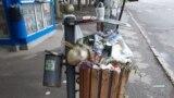 Moldova - Chișinău coș de gunoi după sărbători, 7 mai 2019
