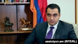 Armenia -- Deputy Minister of Energy Infrastructures and Natural Resources Hayk Harutiunian speaks to RFE/RL. 04Nov., 2016