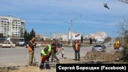 Ямочный ремонт дорог, Керчь