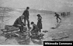 Зимняя рыбалка, 1891