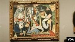 """Пабло Пикассоның """"Алжирлік әйелдер"""" картинасының 0-нұсқасы."""