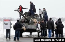 Мясцовыя жыхары ў «ЛНР», 23 лютага 2020