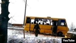 Autobuzul atacat lângă Volnovaha