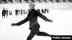 Шамони Кышкы Олимпия уеннарында алтын алган Швеция спортчысы Йиллис Графстрём (1924 ел)