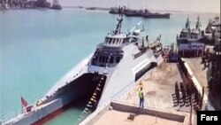 The catamaran-style ship can reportedly achieve speeds of 28 knots.
