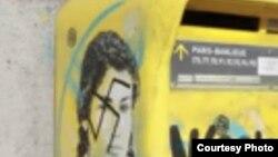 Portretul lui Simone Veil acoperit cu zvastici