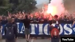Navijači prije utakmice u Zenici