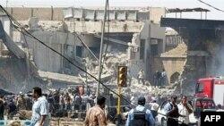 انفجار در مرکز بغداد و در یک محله پر تردد تجاری رخ داد.