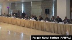 """جانب من جلسات مؤتمر """"الاسلاميون والعلمانيون – نحو رؤية توافقية لاجتياز مرحلة الانتقال للديمقراطية"""" في عمّان."""