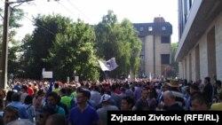 Radnički protest u Sarajevu