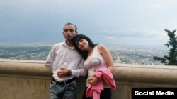 Azerbaijan. Baku. Rasim Aliyev and his girlfriend Guler Abbasova