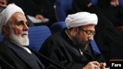 Ali Akbar Nategh-Nouri, a conservative cleric and former head of Iranian Judiciary Ayatollah Sadeq Amoli Larijani. Undated