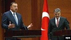 Azərbaycan və Türkiyə dövlət başçıları. Ankara, 5 noyabr 2008