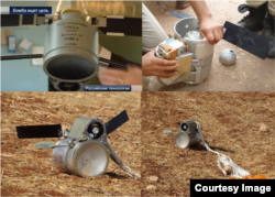 Bombe de casetă rusești folosite în Siria