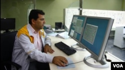 One of the control rooms at the Arak nuclear site (file photo)