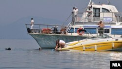 Rescue efforts on Lake Ohrid