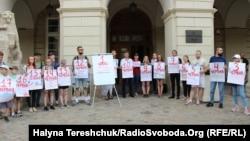 Акция в поддержку Олега Сенцова во Львове. 2 июня 2018 года