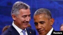 Obama i Đukanović u Varšavi