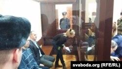 Ганна Шарэйка падчас аднаго зь мінулых судовых паседжаньняў
