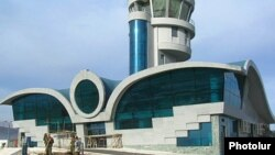 Nagorno-Karabakh -- The new airport terminal constructed near Stepanakert.