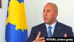 Prime Minister Ramush Haradinaj announced his resignation in July. (file photo)
