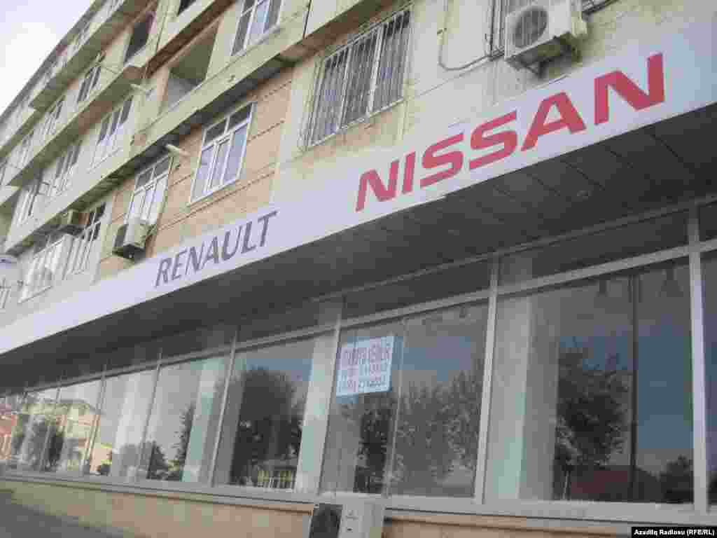 Azerbaijan - closed shops in Baku
