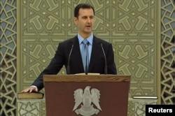 Присяга Башара Асада после избрания на очередной семилетний президентский срок, июль 2014
