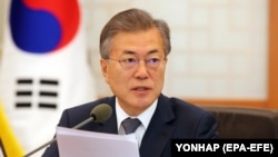 Presidenti jugkorean, Moon Jae-in.