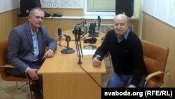 Ігар Засімовіч і Вячаслаў Ракіцкі у студыі Радыё Свабода