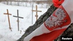 Траурная церемония на месте катастрофы под Смоленском