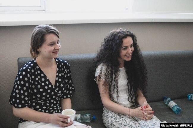 Кацярына Сяргеева (зьлева) і Кацярына Сінюк