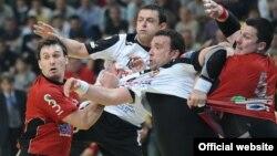 Ванчо Димовски од Металург на ракометниот меч Металург-Вардар во СЦ Борис Трајковски. Полуфинале во СЕХА купот.