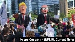 Демонстрация в Брюсселе