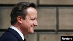 İngiltərə-Fransa matçını baş nazir Cameron da izləyib
