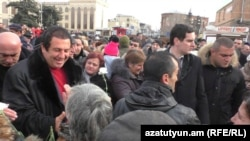 Armenia -- Businessman Gagik Tsarukian visits Gyumri, 11Dec2016