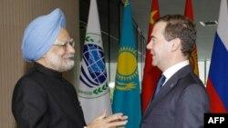 Главы Индии и России встретились в Екатеринбурге до начала саммита БРИК