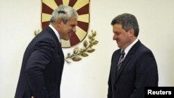 Српскиот и македонскиот претседател, Тадиќ и Иванов