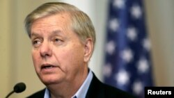 U.S. Senator Lindsey Graham chairs a Senate judiciary subcommittee that is investigating suspected Russian interference in the 2016 presidential election.