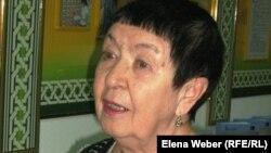 Карлаг жайында бірнеше кітап жазған қаламгер Екатерина Кузнецова. Қарағанды, 23 ақпан 2012 жыл.