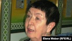 Екатерина Кузнецова, автор книги «Карлаг ОГПУ-НКВД: от Столыпина до Гулага». Караганда, 23 февраля 2012 года.